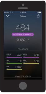 Chinese air pollution app